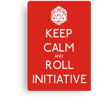 Keep Calm and Roll Initiative Canvas Print