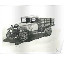 Old Pickup Truck - www.jbjon.com Poster