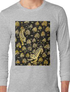 Tiger, jungle animal pattern Long Sleeve T-Shirt