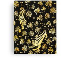 Tiger, jungle animal pattern Canvas Print