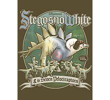 PREHISTORIC PRINCESS - StegosnoWhite & The Seven Velociraptors Photographic Print