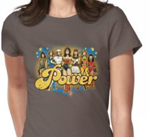 Women of 70s TV - POWER! Womens Fitted T-Shirt