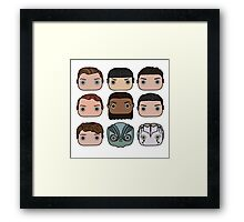 Star Trek Beyond Character Doodle Framed Print