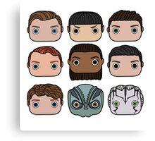 Star Trek Beyond Character Doodle Canvas Print