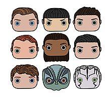Star Trek Beyond Character Doodle Photographic Print