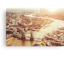 tower bridge aerial Canvas Print