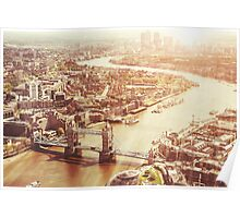 tower bridge aerial Poster
