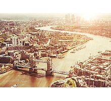 tower bridge aerial Photographic Print