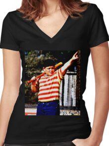 THE GREAT HAMBINO BALLERS SANDLOT Women's Fitted V-Neck T-Shirt