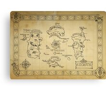 Azeroth map - old hand drawn Canvas Print