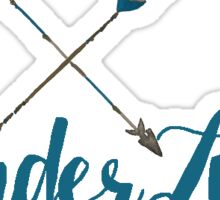 Wanderlust in Teal and Beige with Hand-Painted Water Color Arrows  Sticker