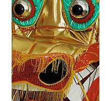 Dragon: Chrome-Eyed Gold closeup from Traditional Costume. VividScene Photographic Print