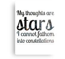 The Fault in Our Stars - My Thoughts Metal Print