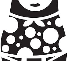 Russian Doll Black & White by ponkchonk