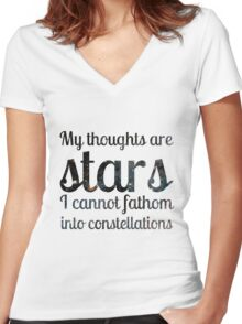 The Fault in Our Stars - My Thoughts Women's Fitted V-Neck T-Shirt