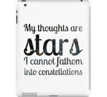 The Fault in Our Stars - My Thoughts iPad Case/Skin