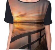 reflective sun rise Chiffon Top