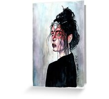Dark Seer Watercolor Painting Greeting Card