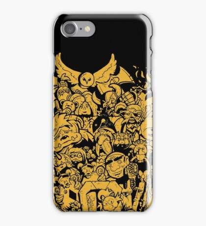 Old Friends - Yellow iPhone Case/Skin