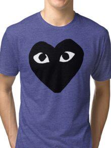BLACK HEART WHITE EYES BALLERS Tri-blend T-Shirt