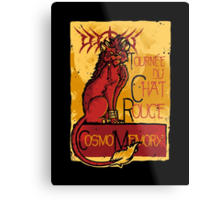 Le Chat Rouge Metal Print