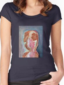 Abstract Face Merch #2 Women's Fitted Scoop T-Shirt