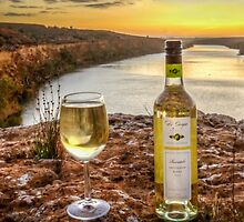 Cliff top wine by Dave  Hartley
