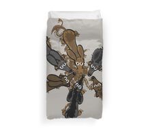 Six Silly Sausages Duvet Cover