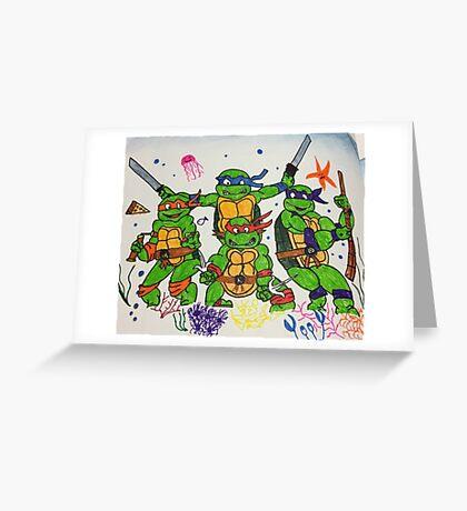 Turtle Underwater Greeting Card