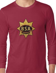 BSA vintage Motorcycle England Long Sleeve T-Shirt