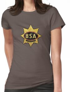 BSA vintage Motorcycle England Womens Fitted T-Shirt