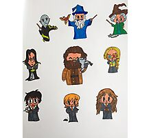 Harry Potter Cartoons Photographic Print