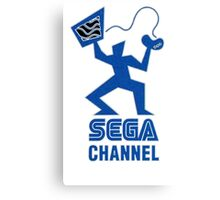 Sega Channel logo Stop Just Watching TV! Canvas Print
