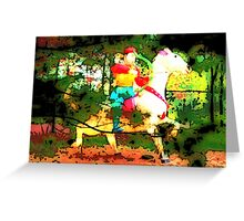 The Chinese Knight Greeting Card