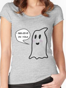 This Ghost Believes in You! Women's Fitted Scoop T-Shirt