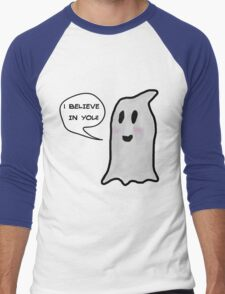 This Ghost Believes in You! Men's Baseball ¾ T-Shirt
