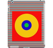 Sun Spot Stripe Pattern iPad Case/Skin