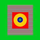 Sun Spot Stripe Pattern by simpsonvisuals