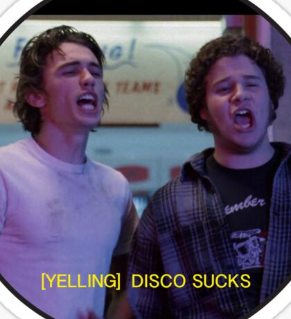 FREAKS AND GEEKS DISCO SUCKS Sticker