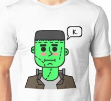 Unamused Frankenstein Unisex T-Shirt