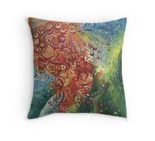 Beautiful Sun Goddess Colourful Acrylic Painting Throw Pillow