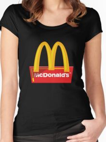 McDonald's Logo Women's Fitted Scoop T-Shirt