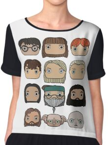 Harry Potter Character Doodle Chiffon Top