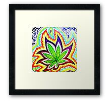 Hemp Leaf Aura Framed Print