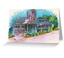 Cool Vintage/Retro Diner  Greeting Card