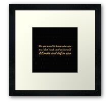 """Do you want to know... """"Thomas Jefferson"""" Inspirational Quote Framed Print"""