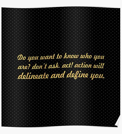 """Do you want to know... """"Thomas Jefferson"""" Inspirational Quote Poster"""