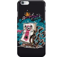 Cartoon Audio Cassette Tape on Dark Background iPhone Case/Skin