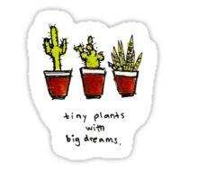 tiny plants drawing Sticker