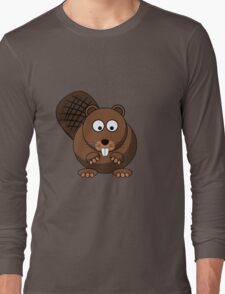 Cartoon Beaver Long Sleeve T-Shirt